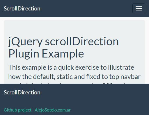 scrollDirection is a jQuery plugin that tracks the scroll direction and executes corresponding functions as the scroll up/down events are completely finished. #jquery