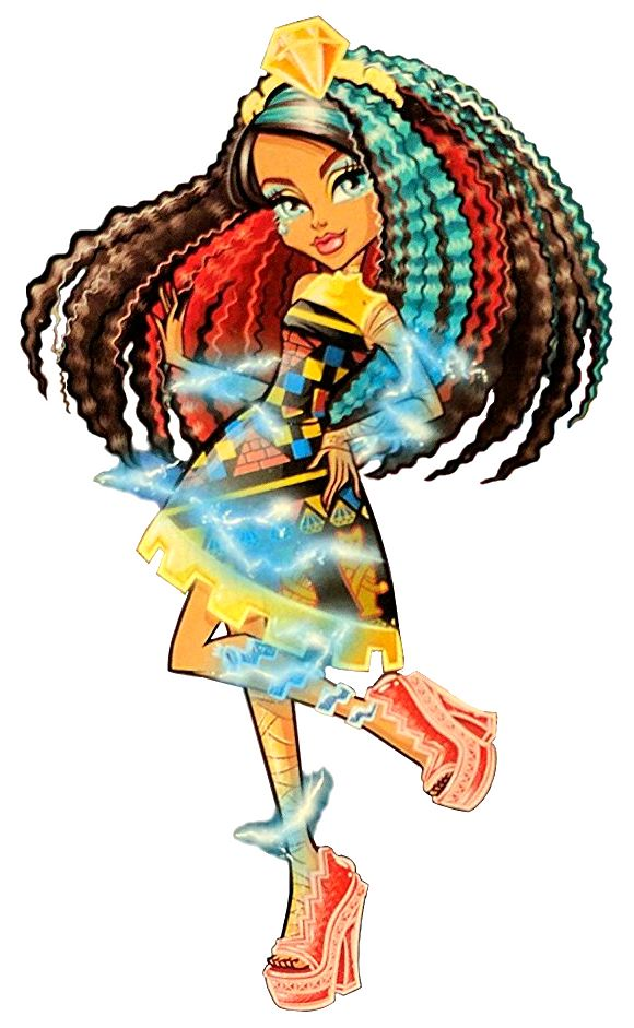 Cleo de Nile. Electrified. Hair Raising Ghouls. New Profile art