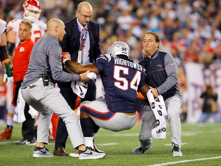 Patriots injury update: Dont'a Hightower has a knee injury and his return questionable.