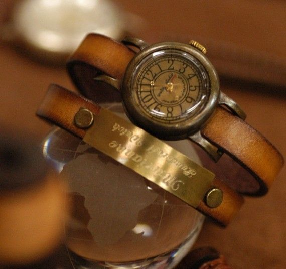 watch: Handcrafted Watches, Vintage Watches, Old Watches, Pure Handcrafted, Antiques Brass, Handcraftwatch, Vintage Jewelry, Wraps Watches, Antiques Watches
