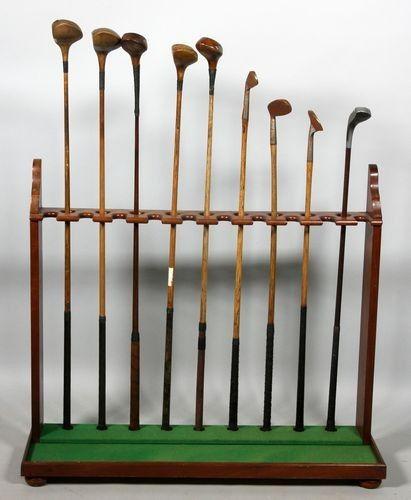 Vintage Golf Rack