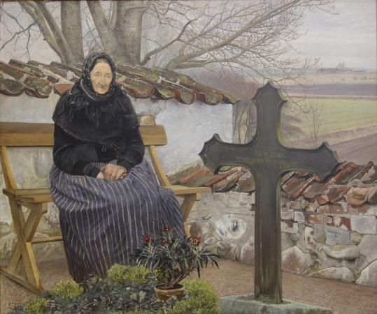 L. A. Ring: Churchyard at Fløng