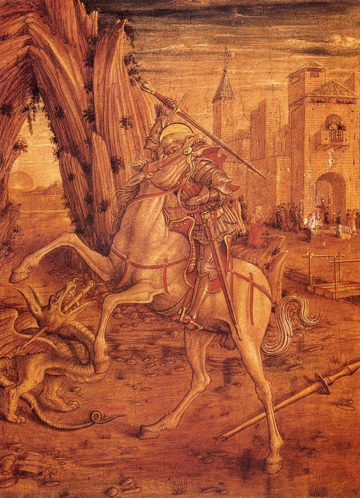 CRIVELLI, Carlo Italian Early Renaissance (ca1430-1495)_St. George And The Dragon 1490