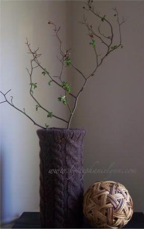 DIY Sweater Vase