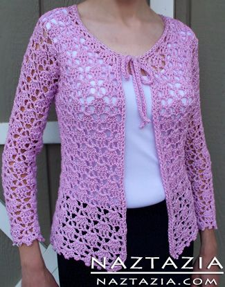 Free Pattern - Crochet Lacy Cardigan Sweater
