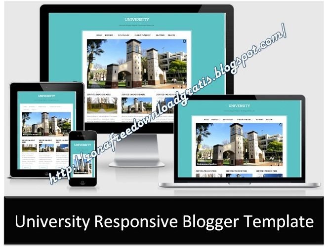 University Responsive Blogger Template