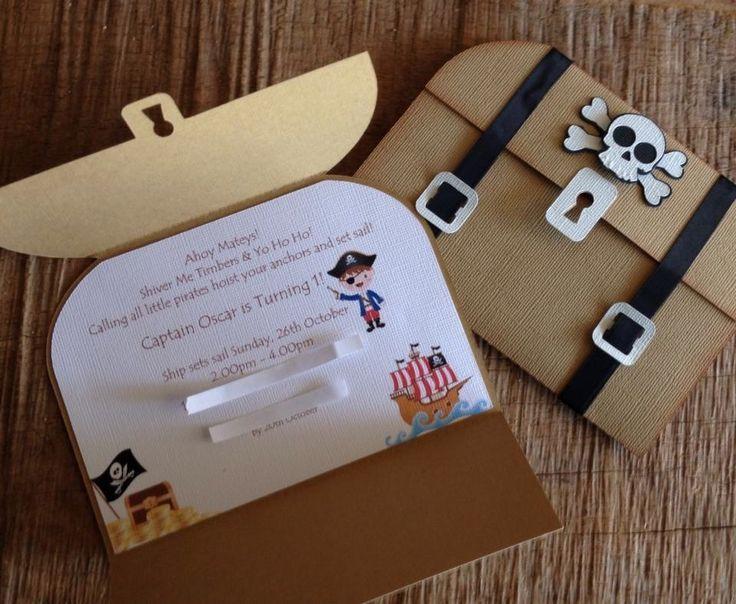 Eine süße Idee für eine Einladung zur Piratenparty! Danke dafür Dein blog.ba… – Basteln