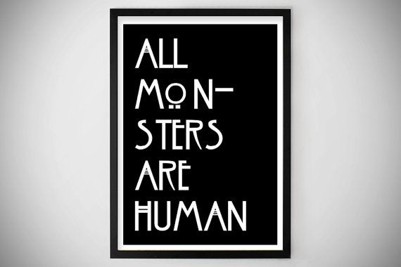 27 best images about all monsters are human on pinterest for American horror story wall mural