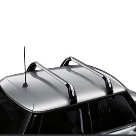 Roof Rack Base Support System - Turning your MINI into your personal pachyderm starts here. Designed specifically for the MINI one-of-a-kind profile, the Roof Rack Base Support System delivers mind blowing versatility flexibility, with a masterfully engineered selection of optional adapters to match an array of extracurricular activities. With installation performed by your MINI dealer, the system features crossbars manufactured from high-strength extruded aluminum tubing to provide ...