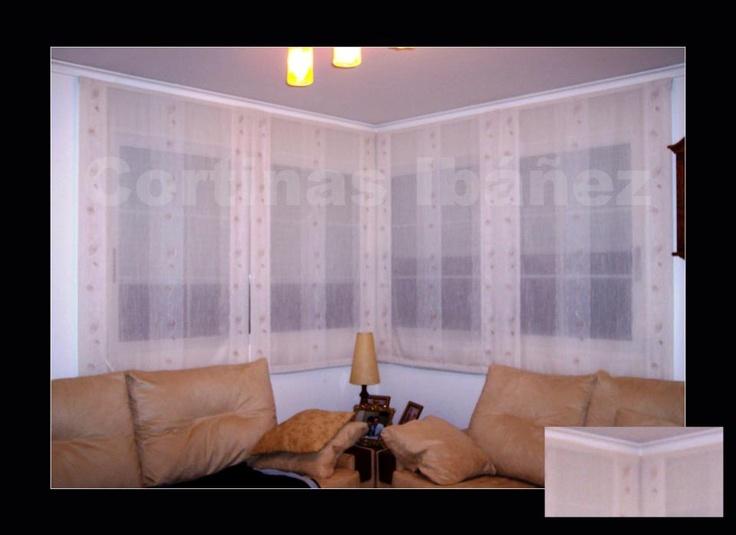 Combinaci n de 4 estores paqueto con cortina en barra de - Cortinas con estores fotos ...