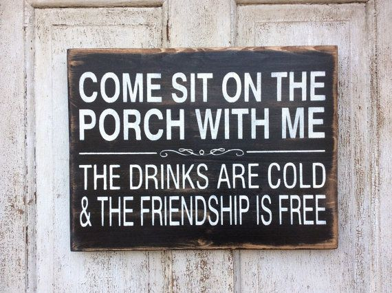 porch sign, Come sit on the porch with me, porch sign, patio sign, deck sign