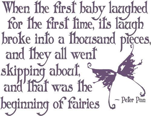 Peter Pan Wall Decor | When the first baby laughed - Peter Pan - Wall Decal | Children ...