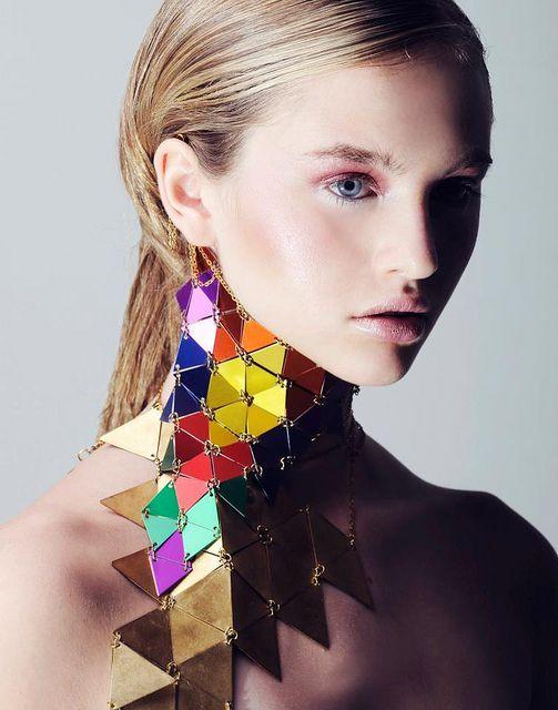 Necklace | Sea of Bees Designs.  'Rainbow Warrior'