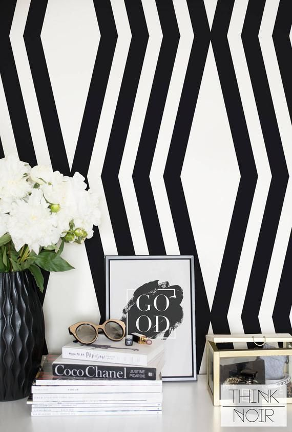 Bold Geometric Removable Wallpaper Self Adhesive Or Regular Etsy Geometric Removable Wallpaper Removable Wallpaper Standard Wallpaper