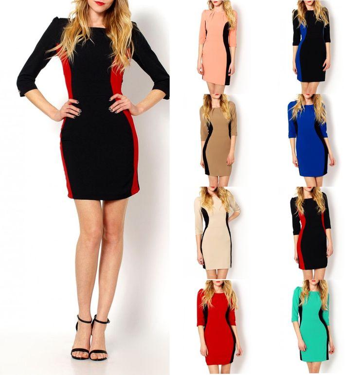 SUPER CENA Śliczna wizytowa sukienka mini WYSZCZUPLAJĄCA 8 KOLORÓW