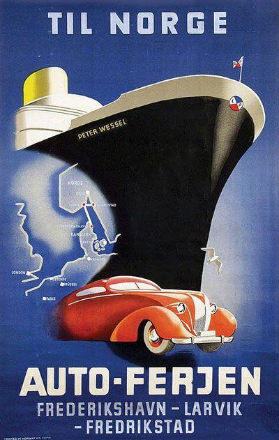 Original vintage poster: Til Norge for sale at posterteam.com