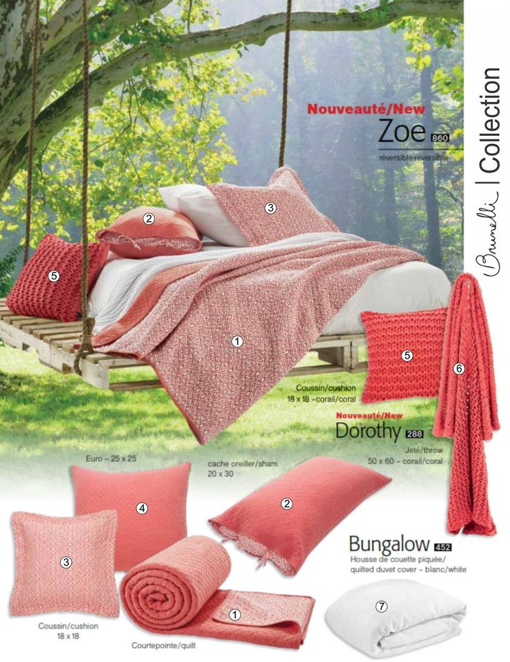 Zoe, a reversible quilt from Brunelli available at www.cigale.ca