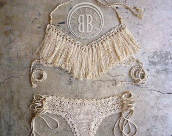 Un bikini de amor custom crochet bikini por beijobaby en Etsy