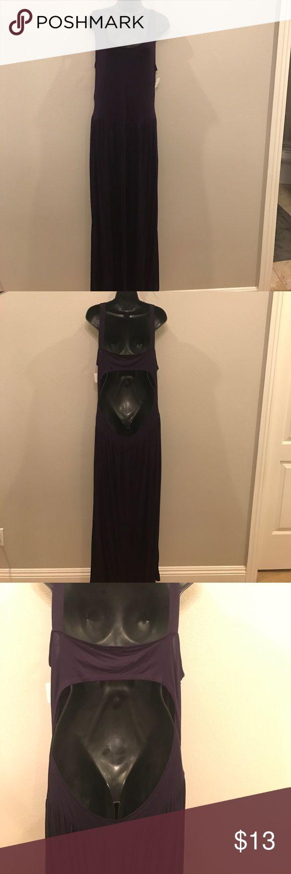 Purple Maxi Dress Cutout Back I Dresses Maxi
