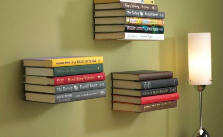 """Artesanato Casa e Dicas: Faça você mesmo: estante """"invisível"""" para livros"""
