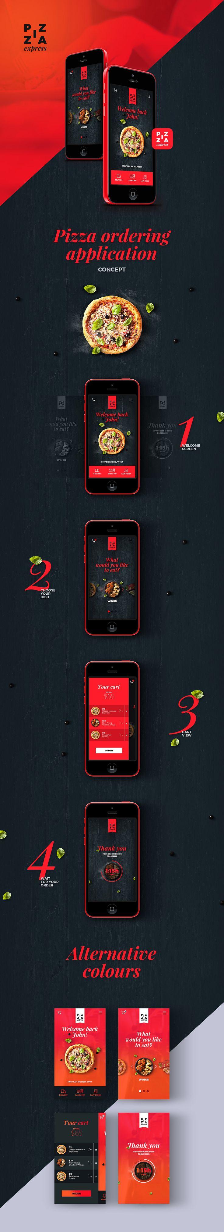 Pizza app on Behance