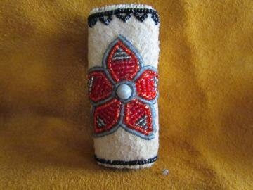 Beaded Lighter Case Cover by AlaskaBeadwork for $15.00
