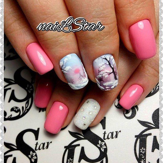 "890 Likes, 2 Comments - Маникюр Гель-лак Наращивание (@nails_journal) on Instagram: ""Автор @starkova_ludmila #nails #nail #дизайнногтей #nailart #руки #crystalpixie #naildesign…"""
