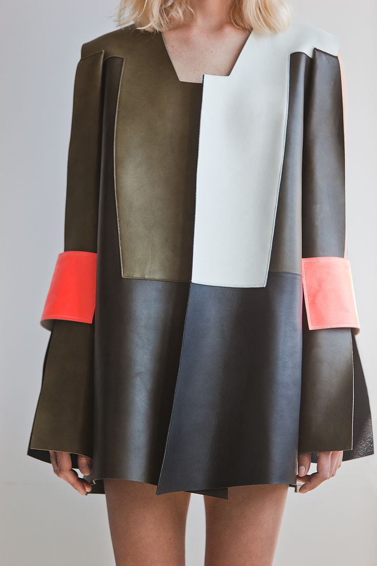 Meet Finland's Rising Fashion Stars - finnish-fashion-9-Wmag I love how the designer turned a jacket/coat into a dress                                                                                                                                                      More