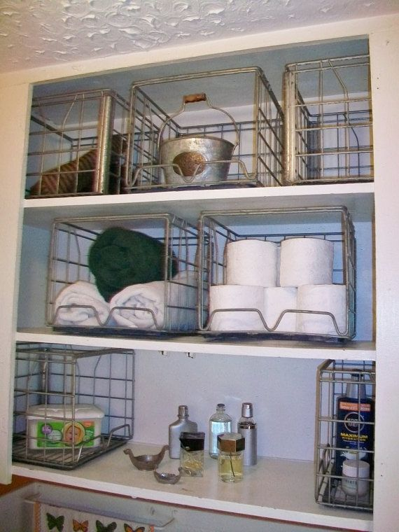 Wire crate shelves : Wire milk crate storage