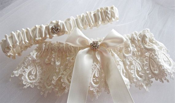 Heirloom Bride Garter Set in Bridal Venice Garter by GarterLady, $39.00