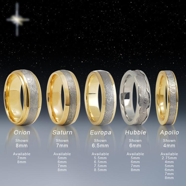 Superb Meteorite Wedding Rings