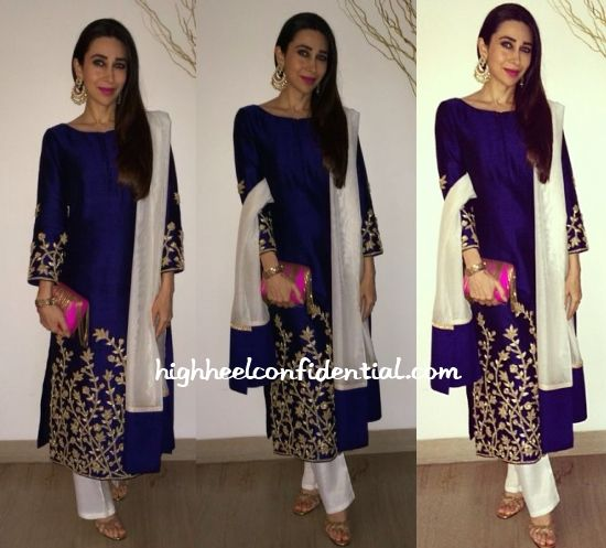 Karisma in a simple yet another great look at the Pune festival : Highheelconfidential
