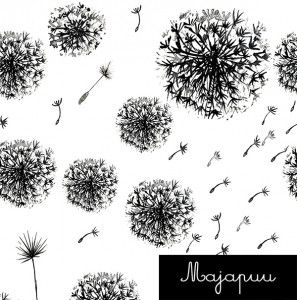 Majapuu : Dandelions – Sitka Fabrics