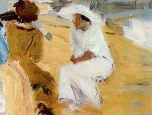 Mujeres en la playa de San Sebastian.
