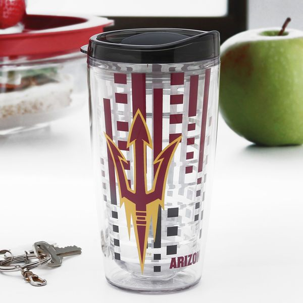 Arizona State Sun Devils 16oz. Slimline Clear Tumbler with Lid - $15.99