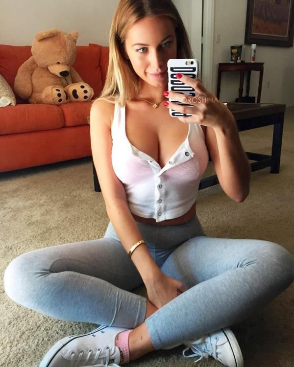 Teen Down Shirt Picture: Hands Down, The Best Girl Next Door Selfies -(Photo