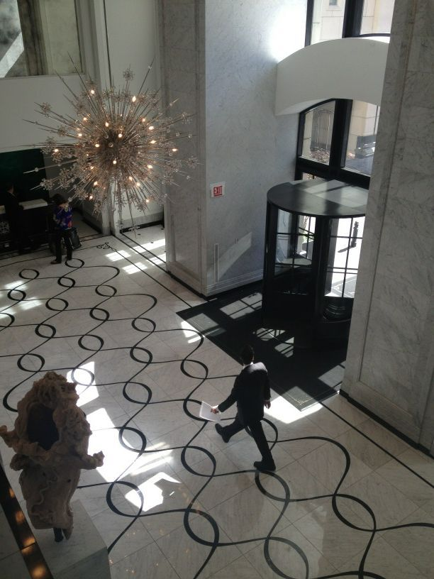 Lobby view waldorf astoria chicago flooring walls and for Floor and decor chicago
