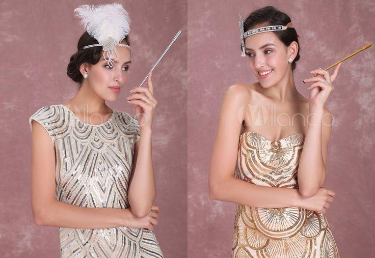 Vestido de franjas lantejoulas Damasco vestido grande Gatsby Flapper traje do Vintage feminino de 1920 Halloween