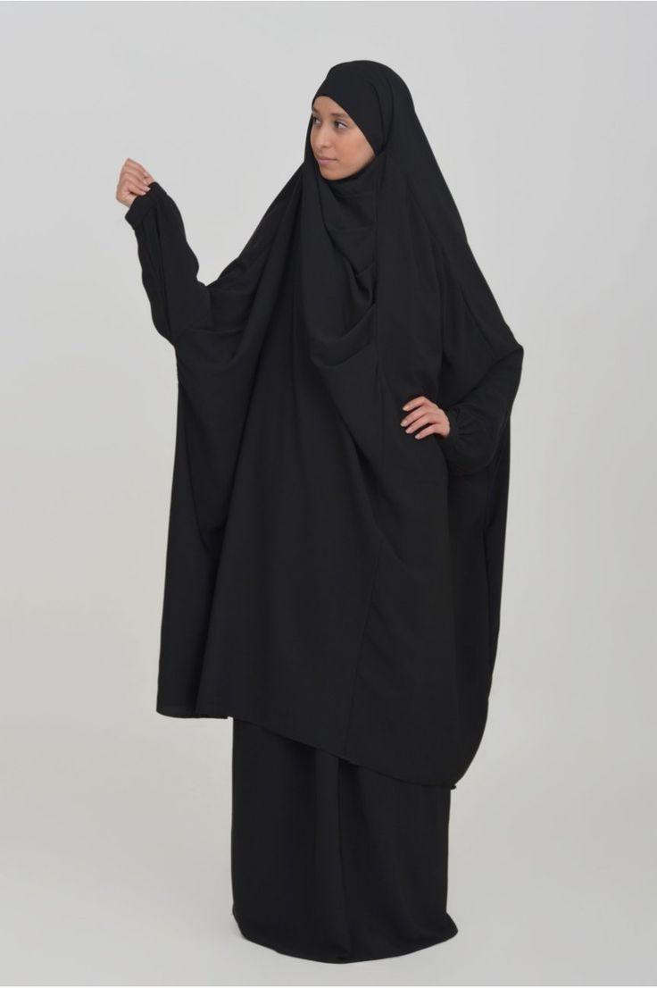 Khimar : jilbab cape with pleasts Baida
