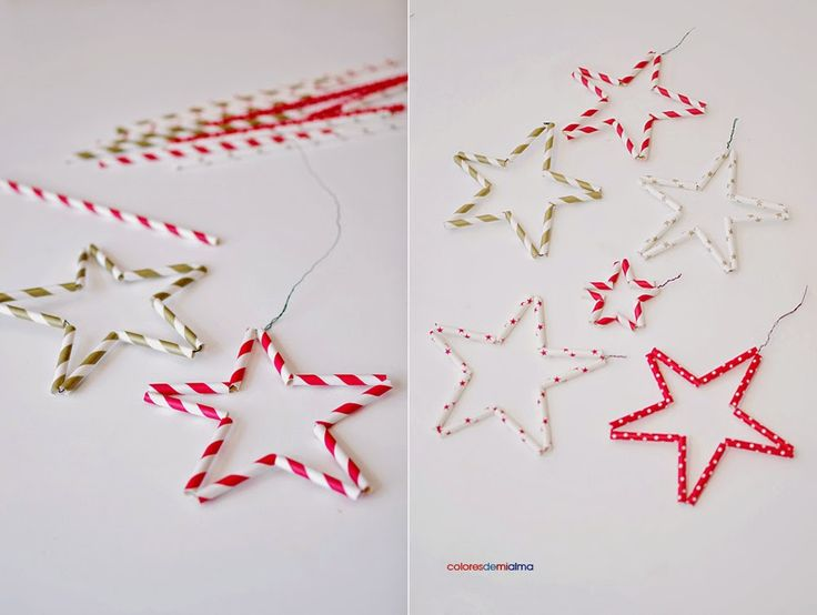 paper straws stars by cloresdemialma.blogspot.com