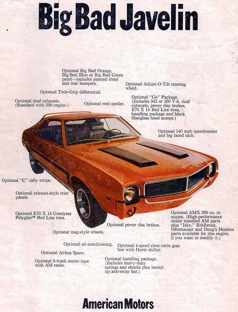 1969 American Motors Big Bad Javelin Ad
