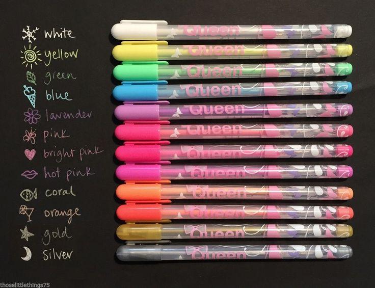 fine pens for craft card making gel chalk ink silver gold fluorescent marker | eBay