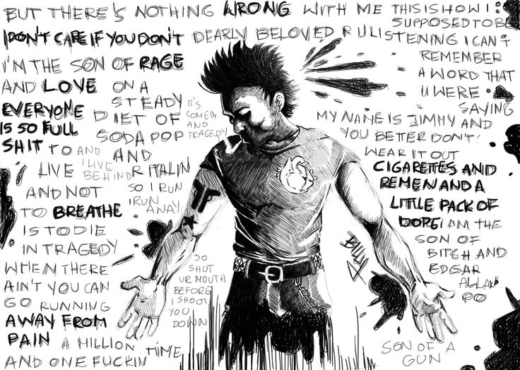 Jimmy from Jesus of suburbia, lyrics and character, etc belong to Green Day