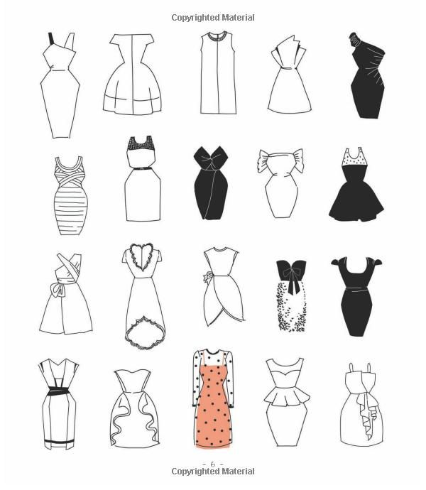 20 ways to draw a dress and 44 other fabulous fashions and for Drawing ideas for beginners step by step