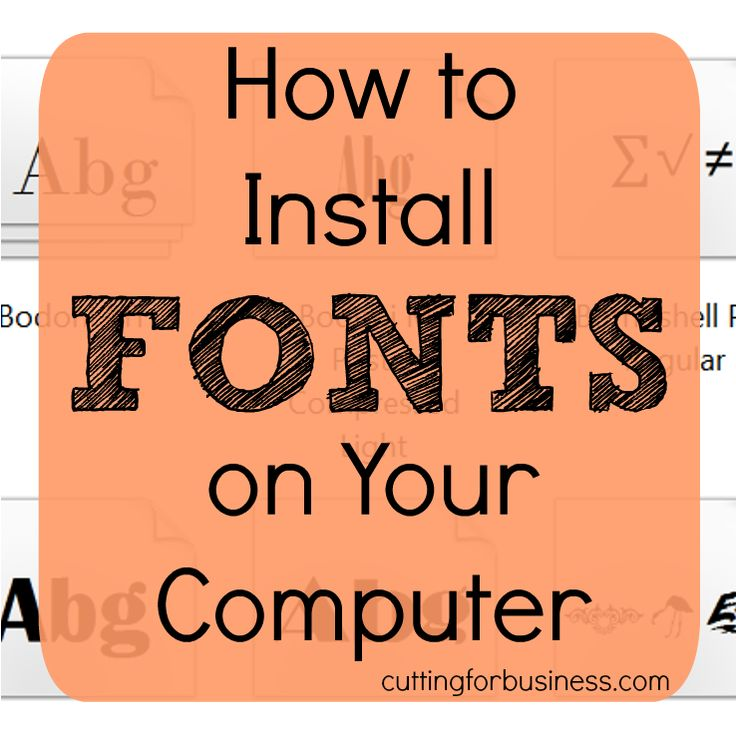 Learn how to install fonts on your computer for Mac, Windows Vista, Windows 7, Windows 8, and Windows 10.
