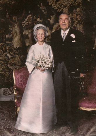 1976: Prince Bertil of Sweden and Lilian Baels marry after 30 years of living together.