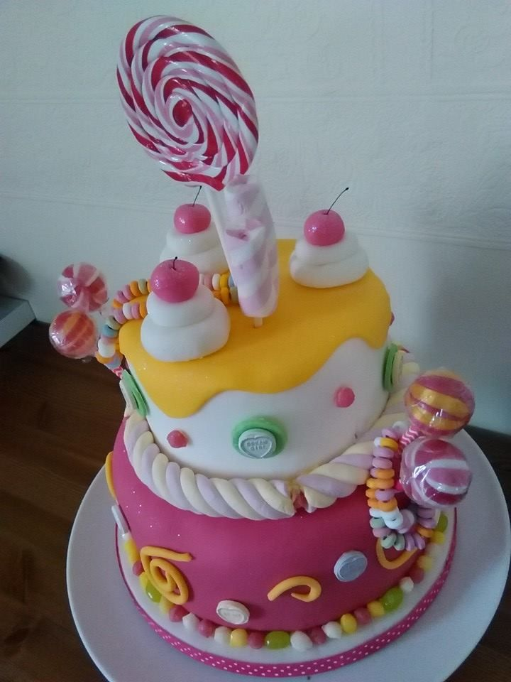 Sweetie Cake, lovely and bright! www.kitchenfairiesleeds.co.uk