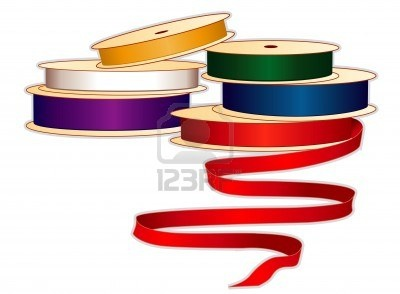 Illustration Of Spools Satin Ribbons In Jewel Colors For Sewing Tailoring Vector Art Clipart And Stock Vectors