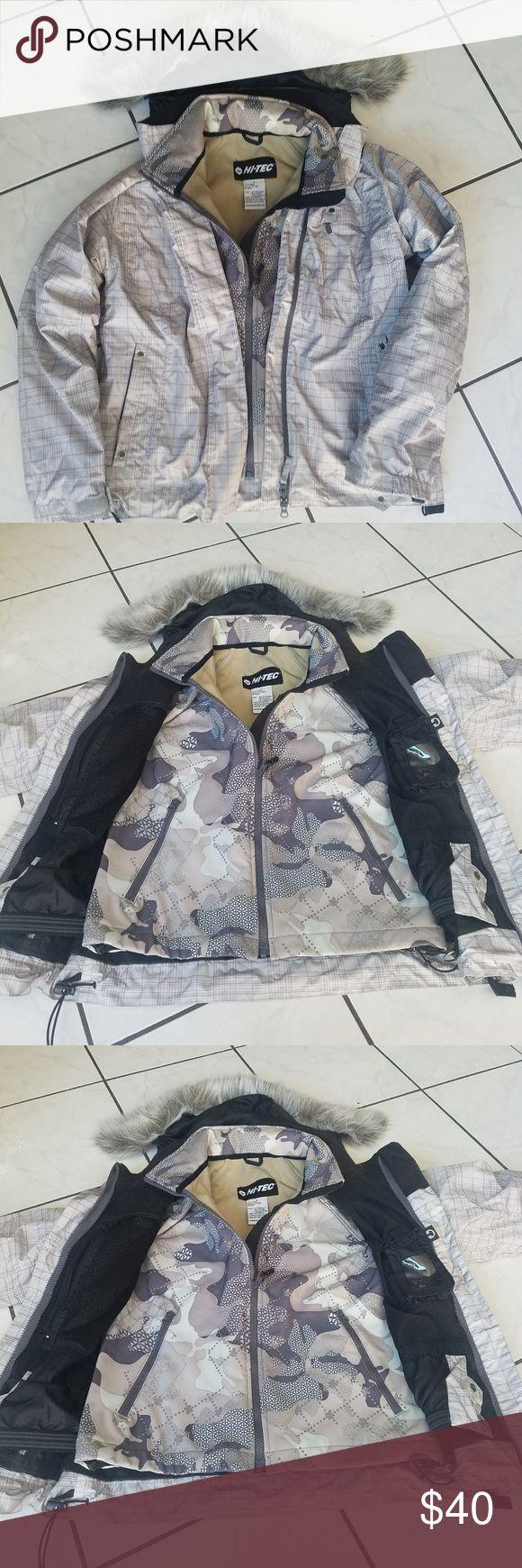 Grey Plaid + Camo Snowboarding JKT Grey Plaid Snowboarding JKT by HI-Tec Detachable hood Extra jacket inside too  Armpit Zippers too Hi-Tec Jackets & Coats