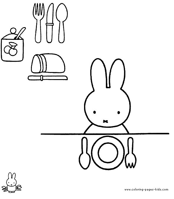 Miffy coloring pages!
